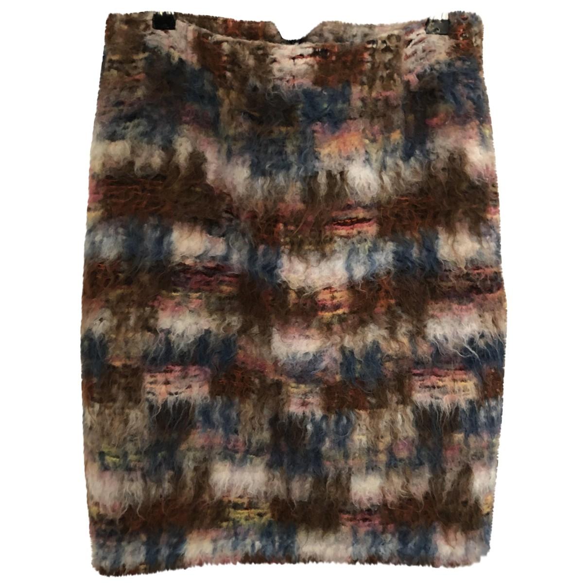 Fendi - Jupe   pour femme en laine - multicolore