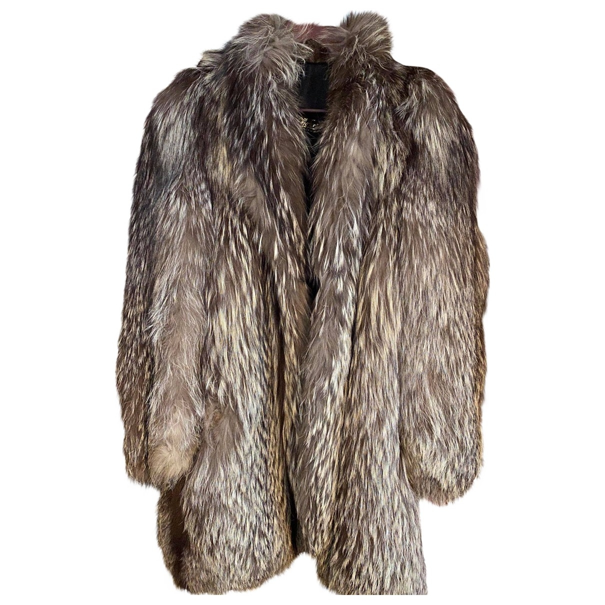 Non Signé / Unsigned \N Grey Fox coat for Women M International