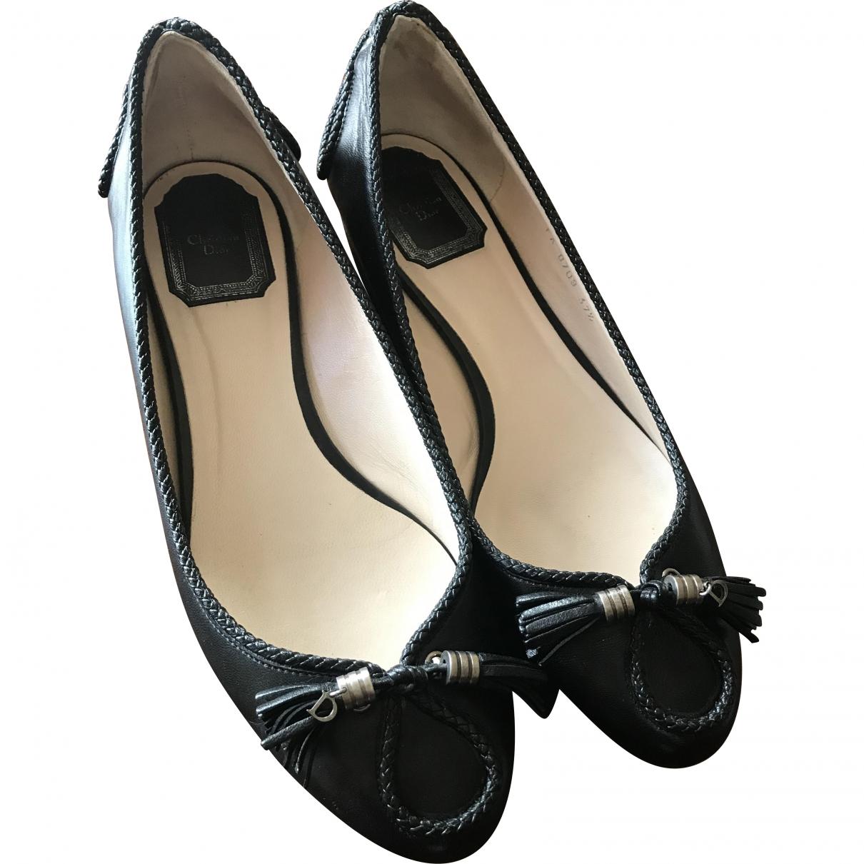 Dior \N Black Leather Ballet flats for Women 38 EU