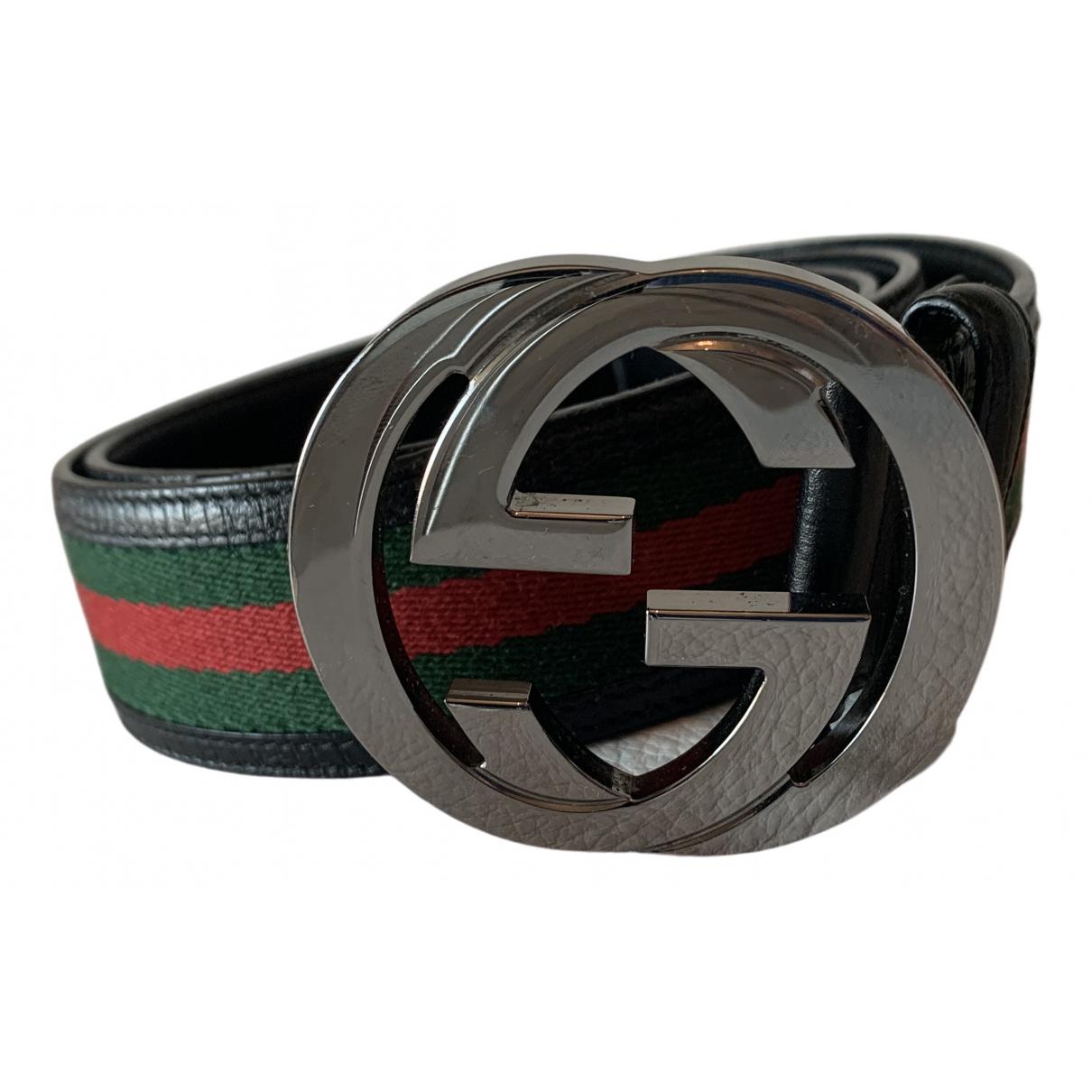 Cinturon Interlocking Buckle de Lona Gucci