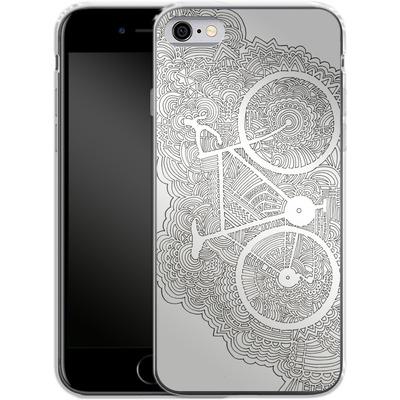 Apple iPhone 6 Silikon Handyhuelle - Bike Drawing Meditation von Kaitlyn Parker