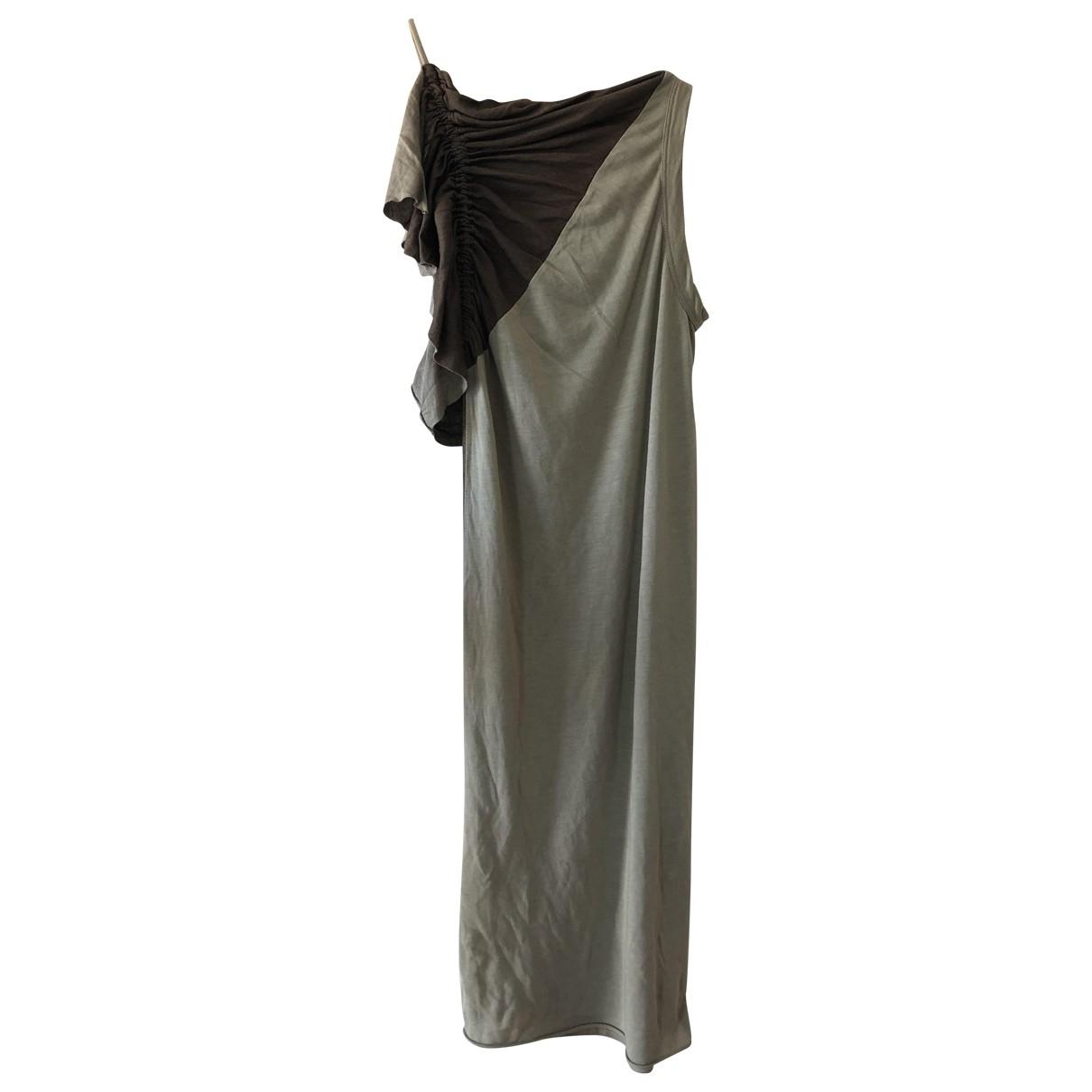 Rick Owens Lilies \N Kleid in  Gruen Viskose