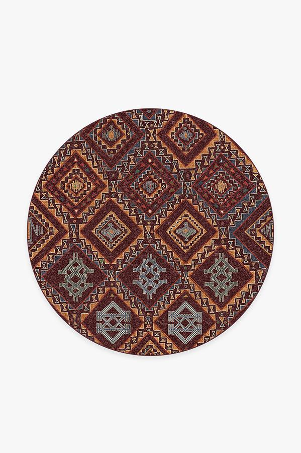 Washable Rug Cover & Pad | Lunja Plum Rug | Stain-Resistant | Ruggable | 6' Round