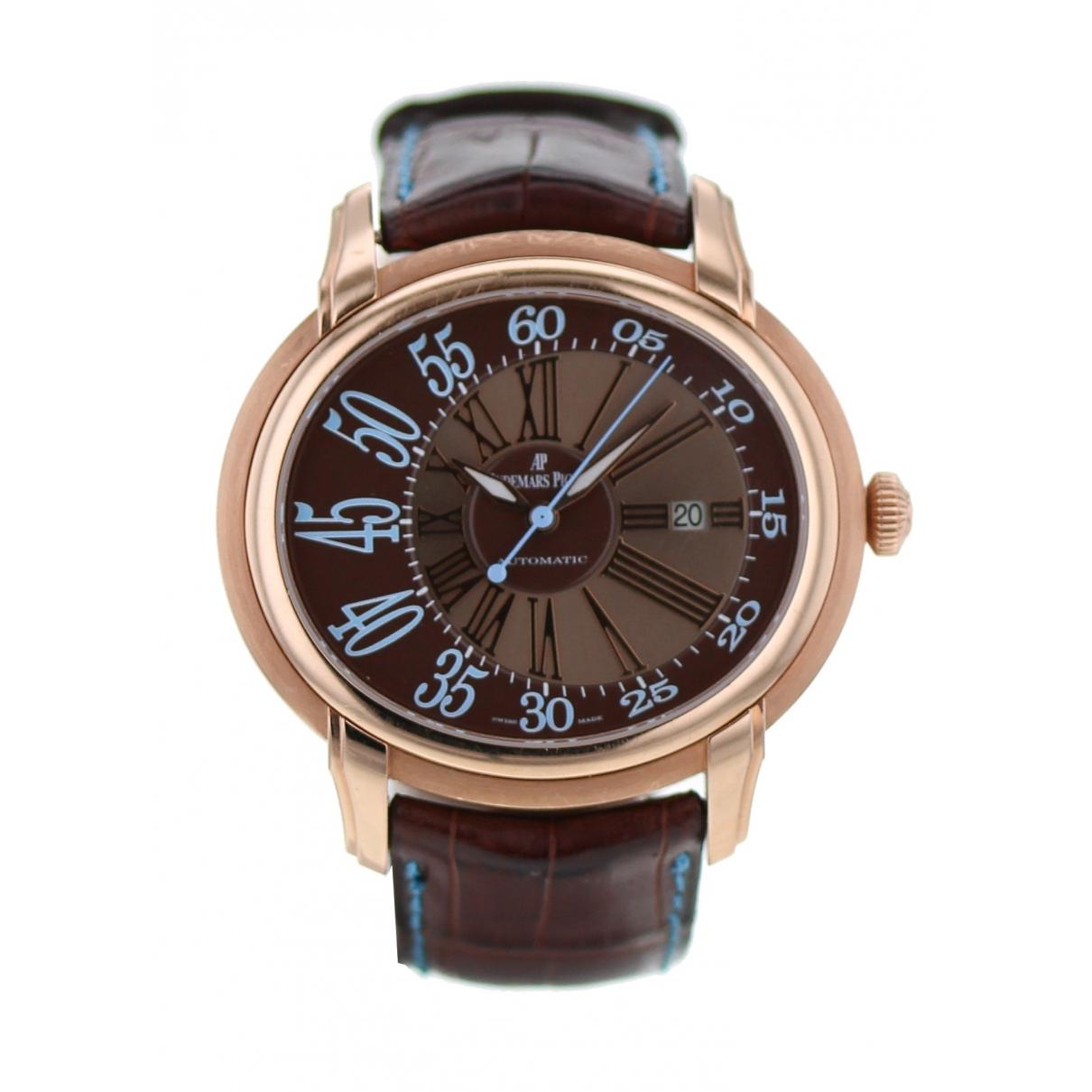Audemars Piguet Millenary Black Pink gold watch for Men \N