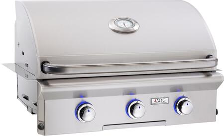 30NBL-00SP 30 L Series Built-In Natural Gas Grill with 540 sq. in. Grilling Surface  45000 BTU Total Main Burner Output  Warming Rack  and Drip Tray