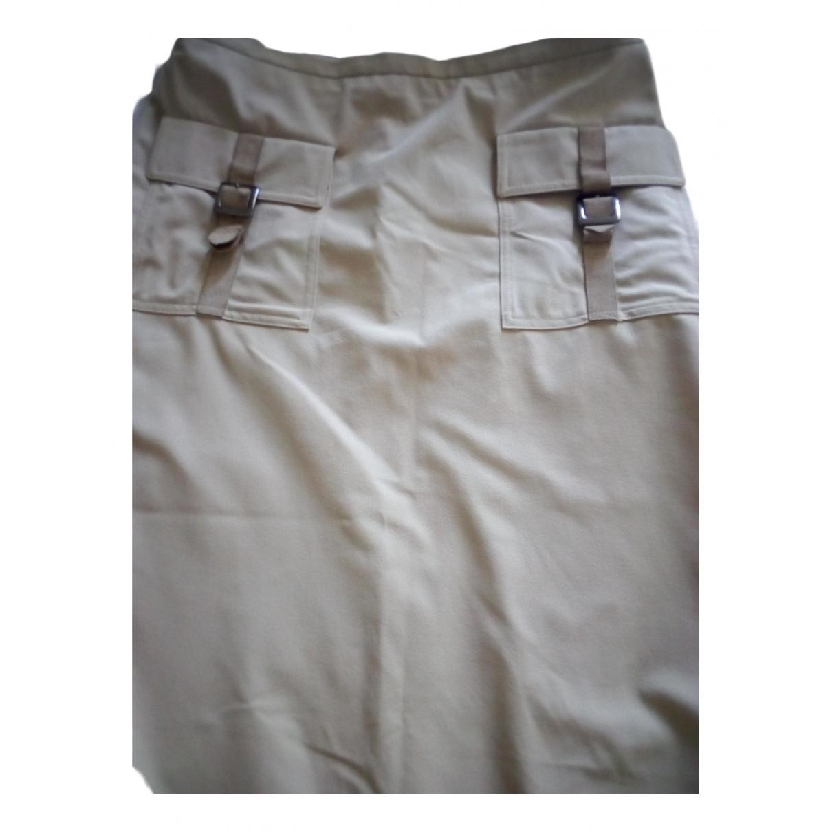 Gianfranco Ferré \N Beige Cotton - elasthane skirt for Women 42 IT