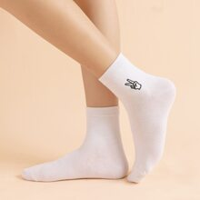 Figure Embroidery Socks