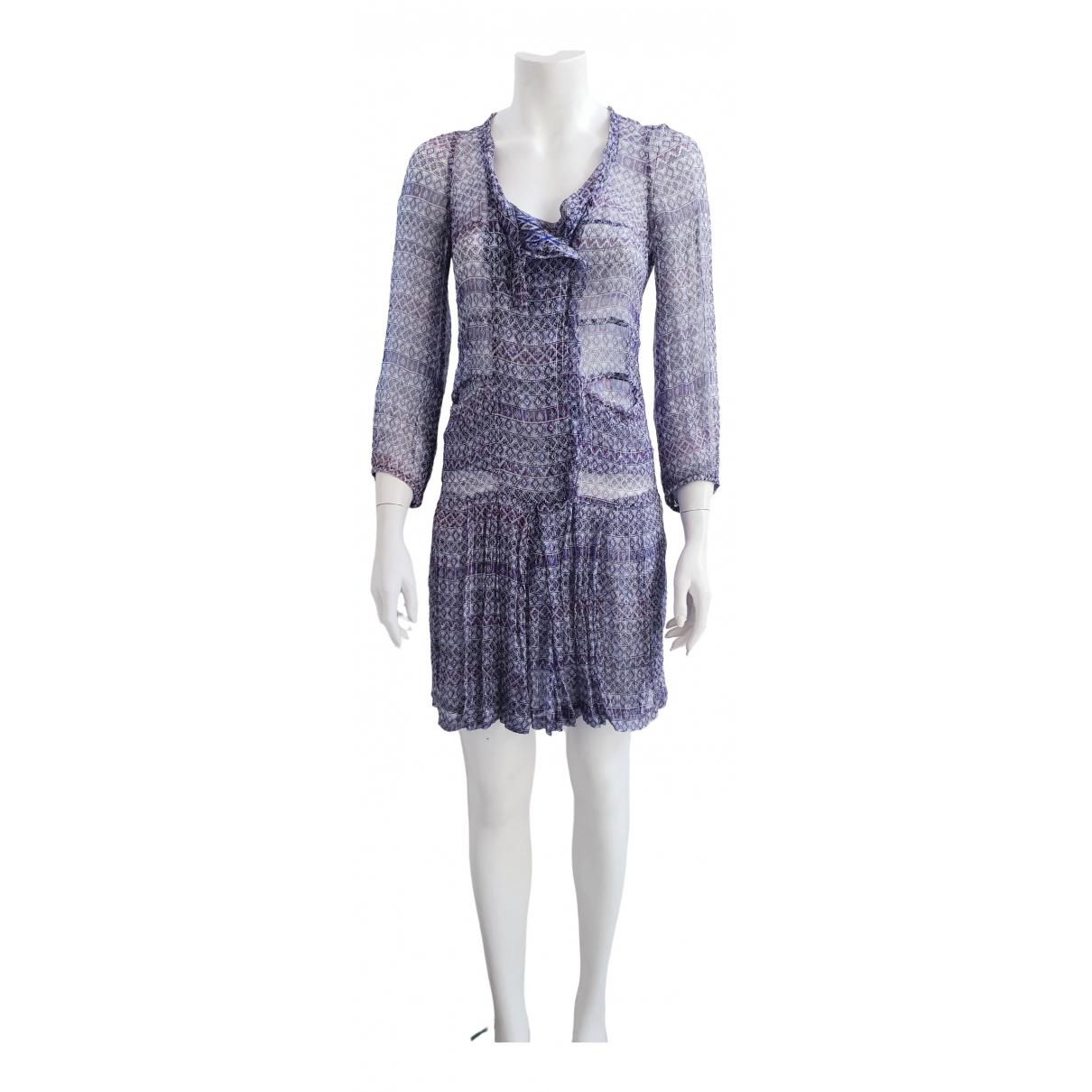 Isabel Marant \N Kleid in  Blau Seide