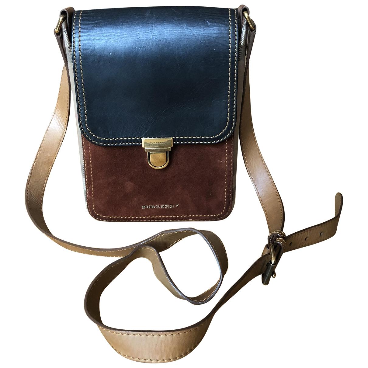 Burberry \N Brown Suede handbag for Women \N