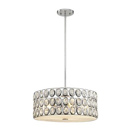 81155/5 Tessa 5-Light Chandelier in Polished Chrome with Clear