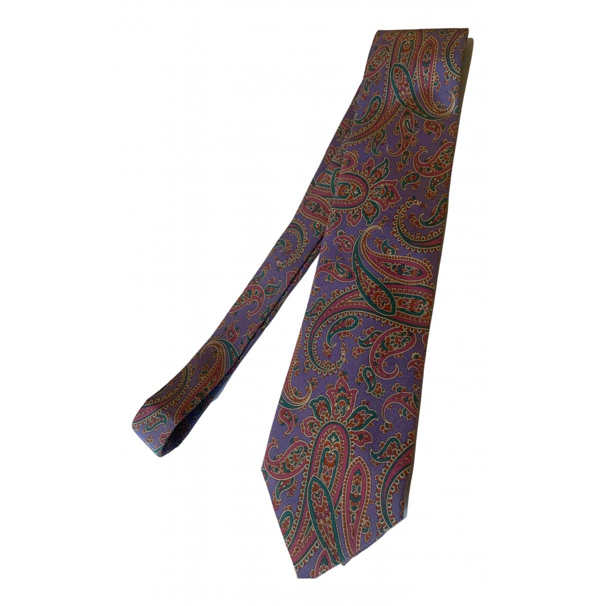 Non Signe / Unsigned \N Krawatten in  Lila Seide