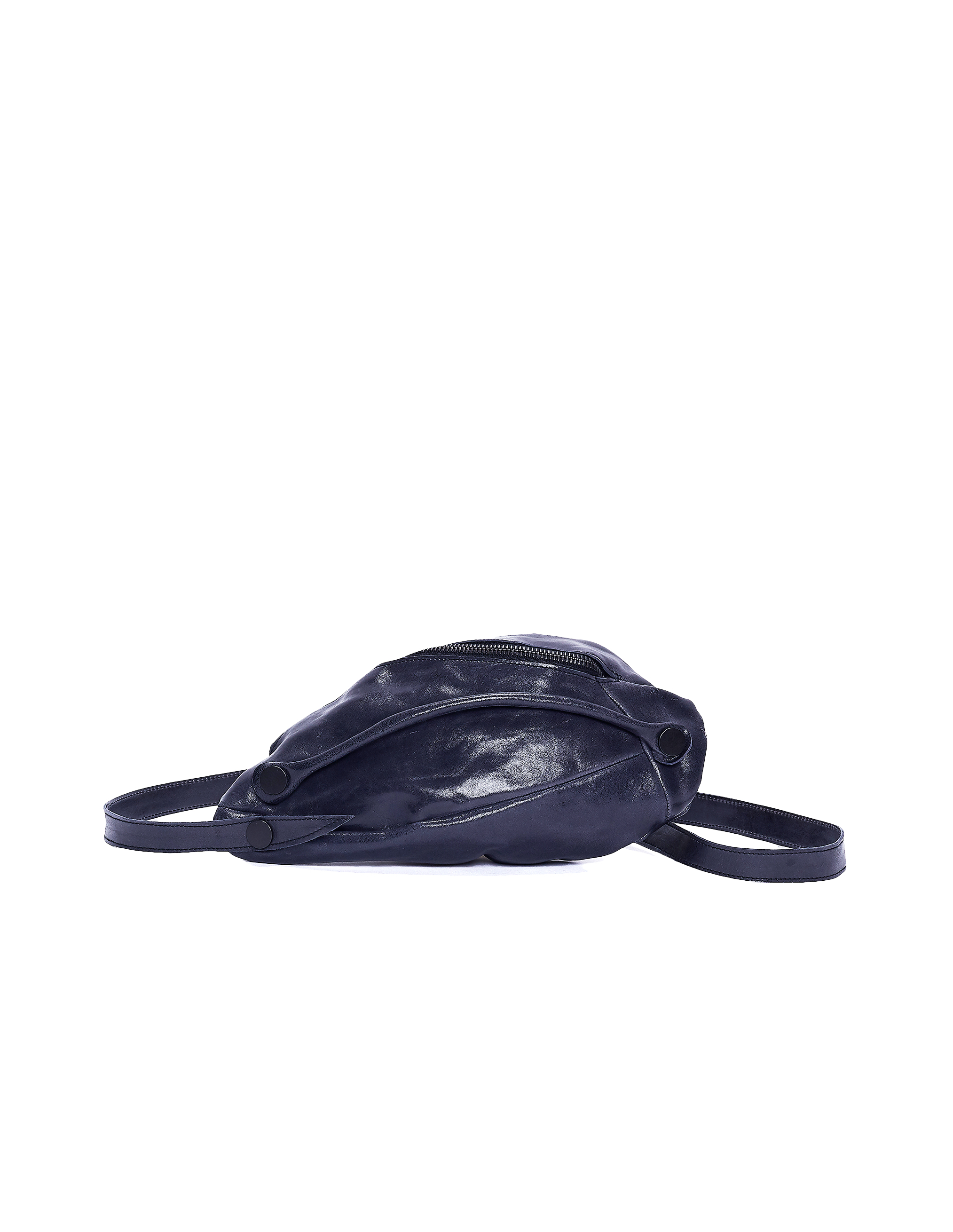 Leon Emanuel Blanck Navy Blue Leather Clutch