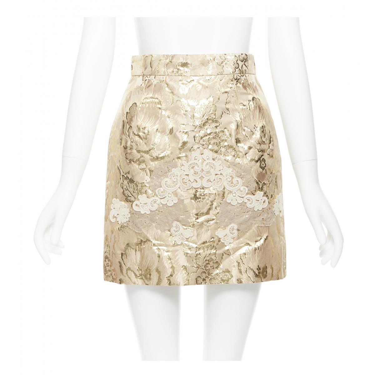 Dolce & Gabbana - Jupe   pour femme - dore
