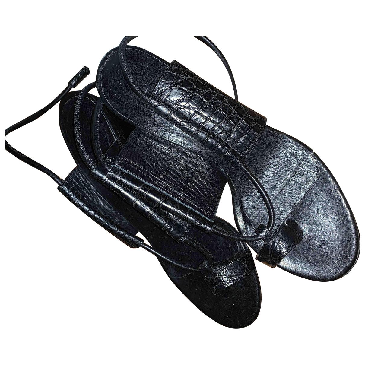 Tibi \N Sandalen in  Schwarz Leder