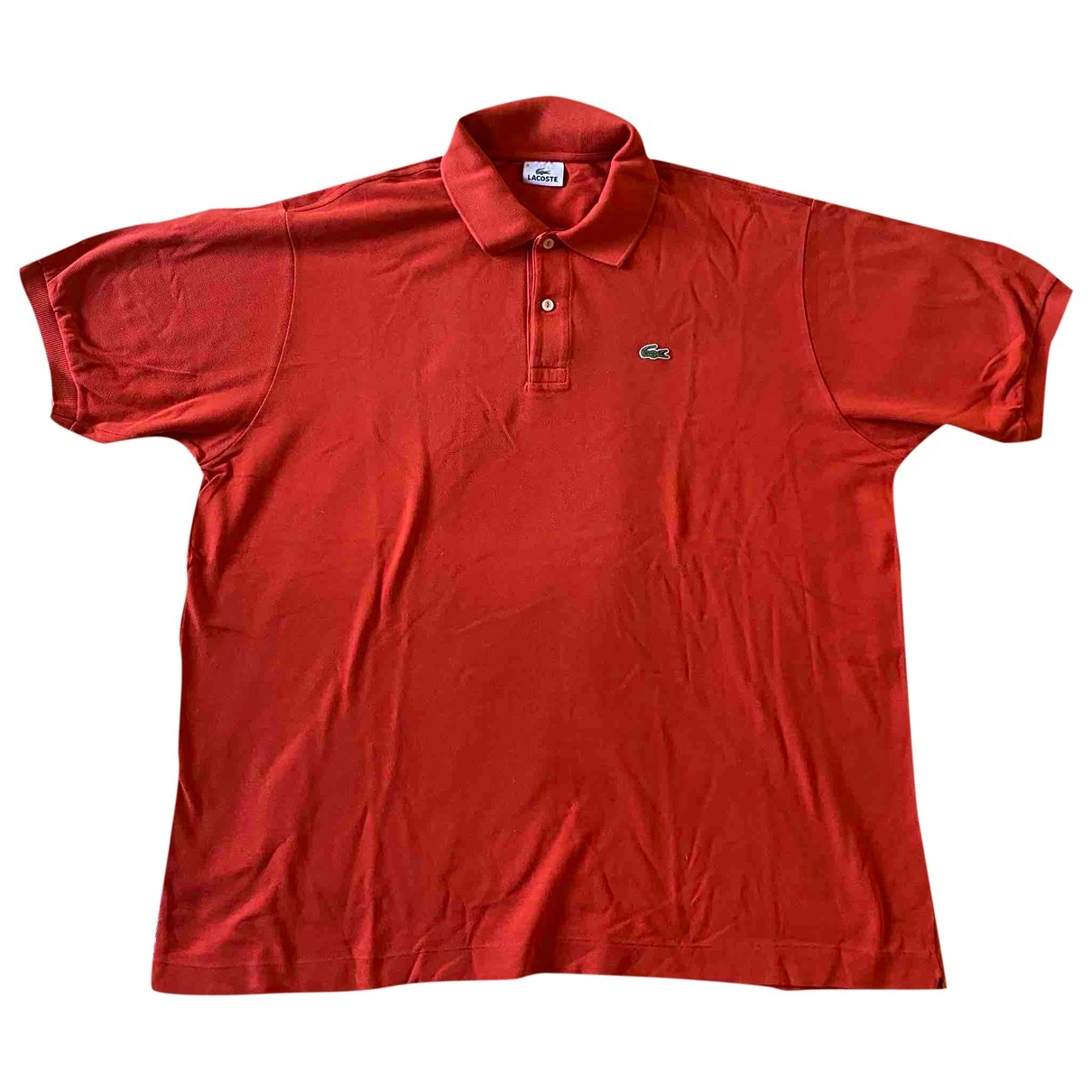 Lacoste - Polos   pour homme en coton - orange