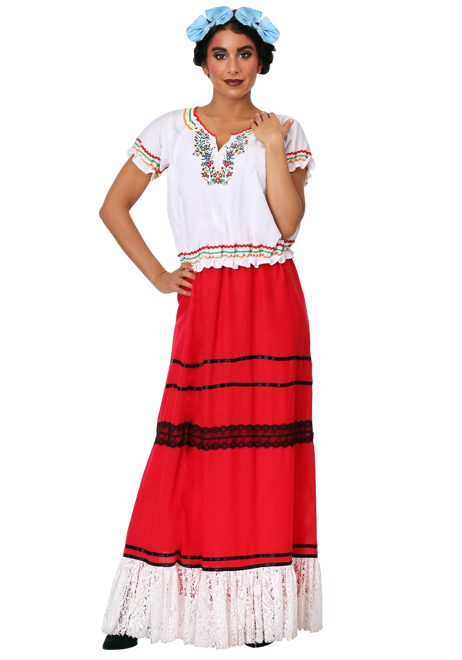 Red Frida Kahlo Womens Costume