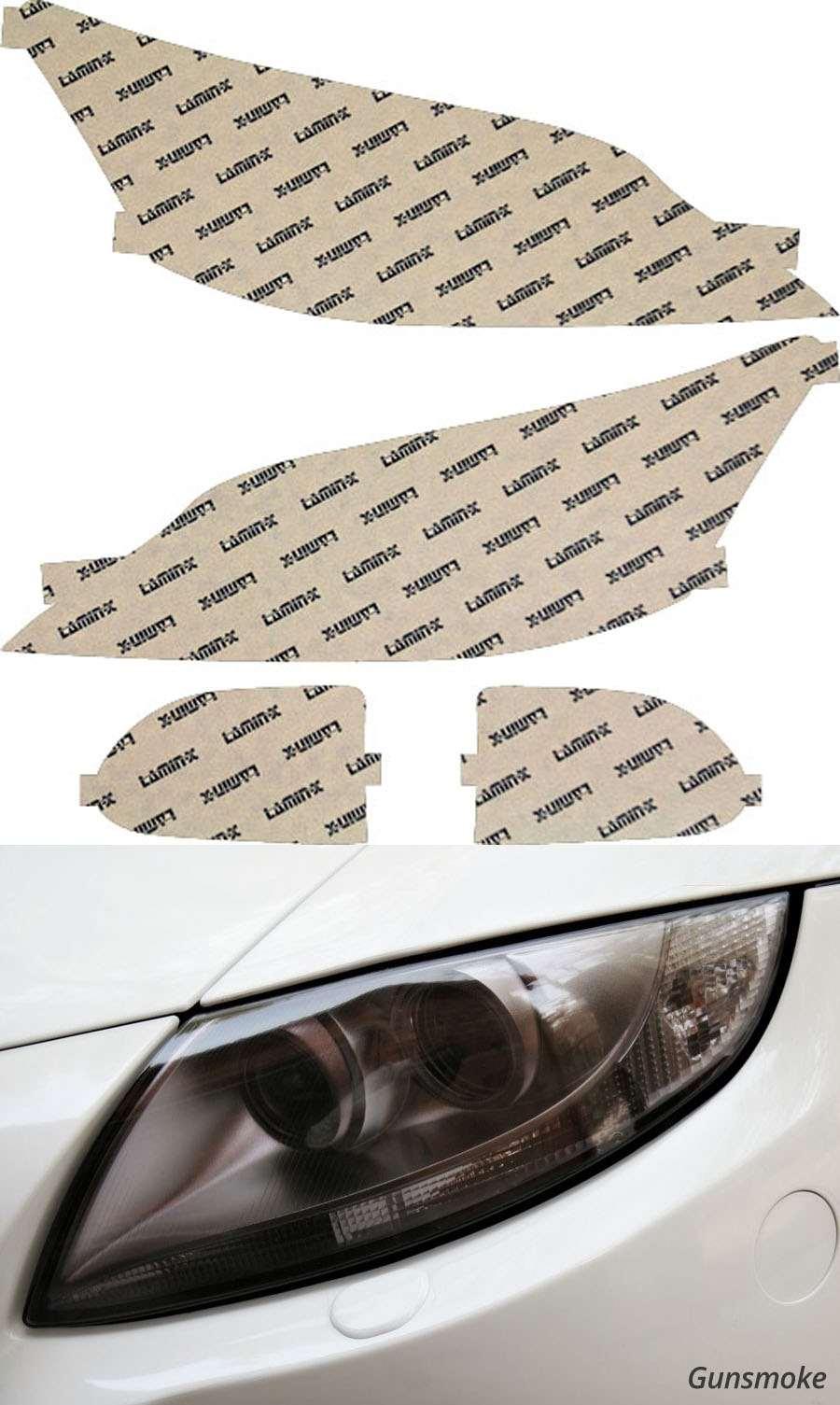 Lexus ES 10-12 Gunsmoke Headlight Covers Lamin-X L014G