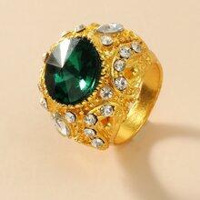 1 Stueck Ring mit Strass Dekor
