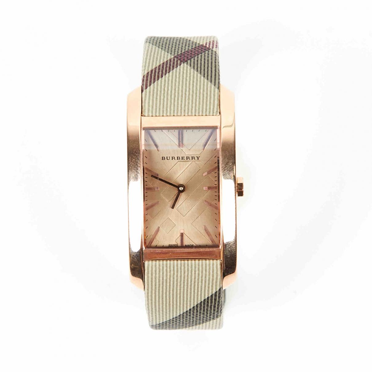 Burberry \N Uhr in  Braun Stahl