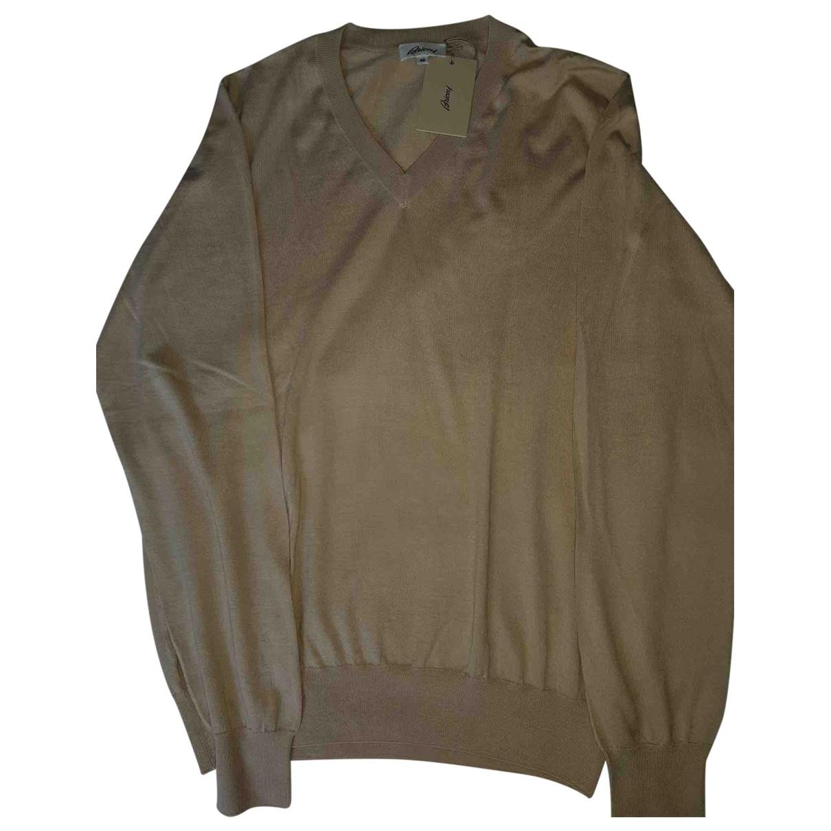 Brioni \N Beige Wool Knitwear & Sweatshirts for Men 48 IT