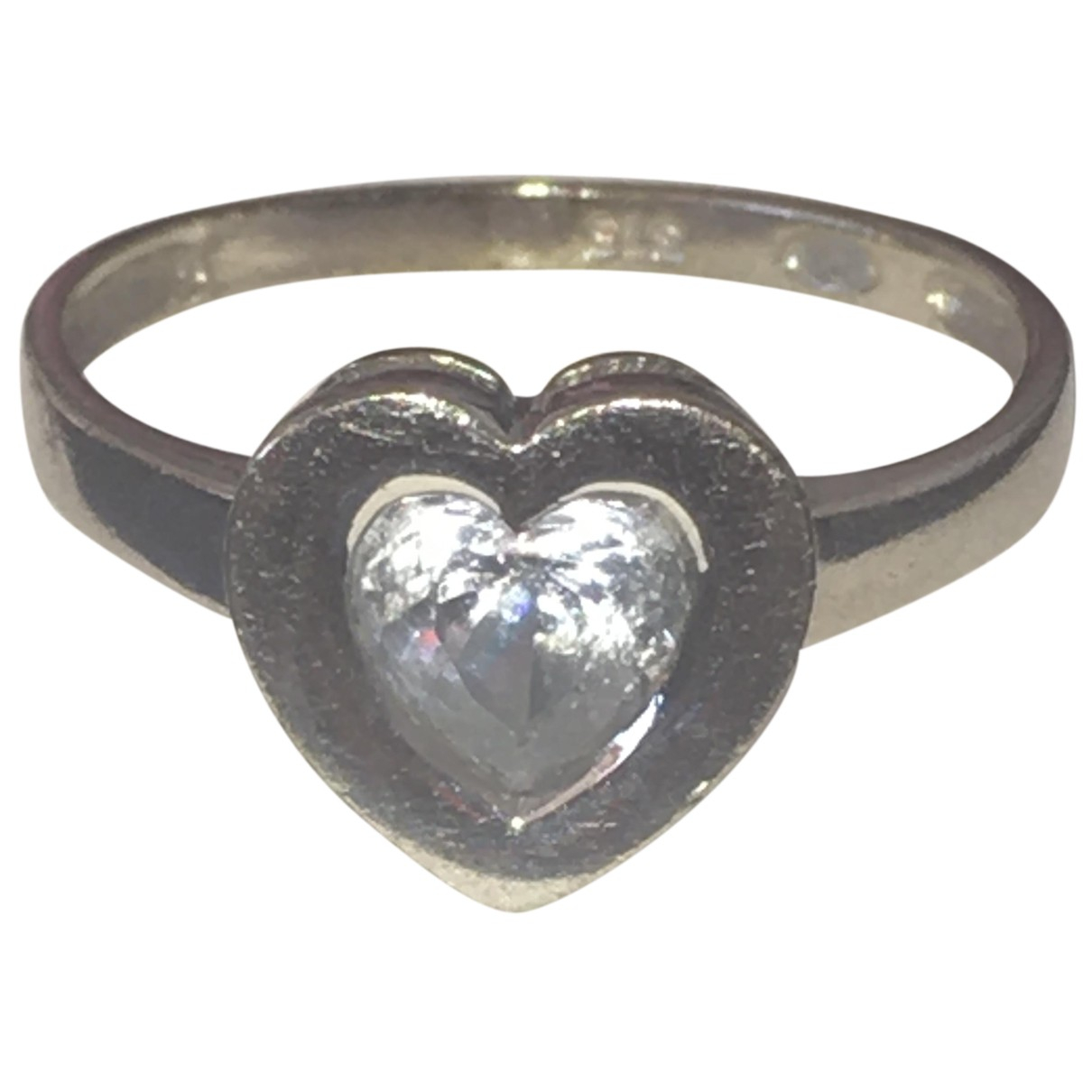 - Bague Motifs Coeurs pour femme en or blanc - argente