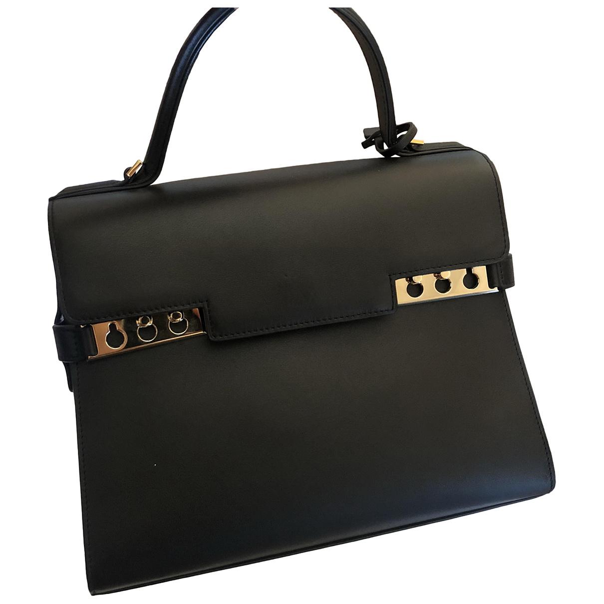 Delvaux Tempête Black Leather handbag for Women \N