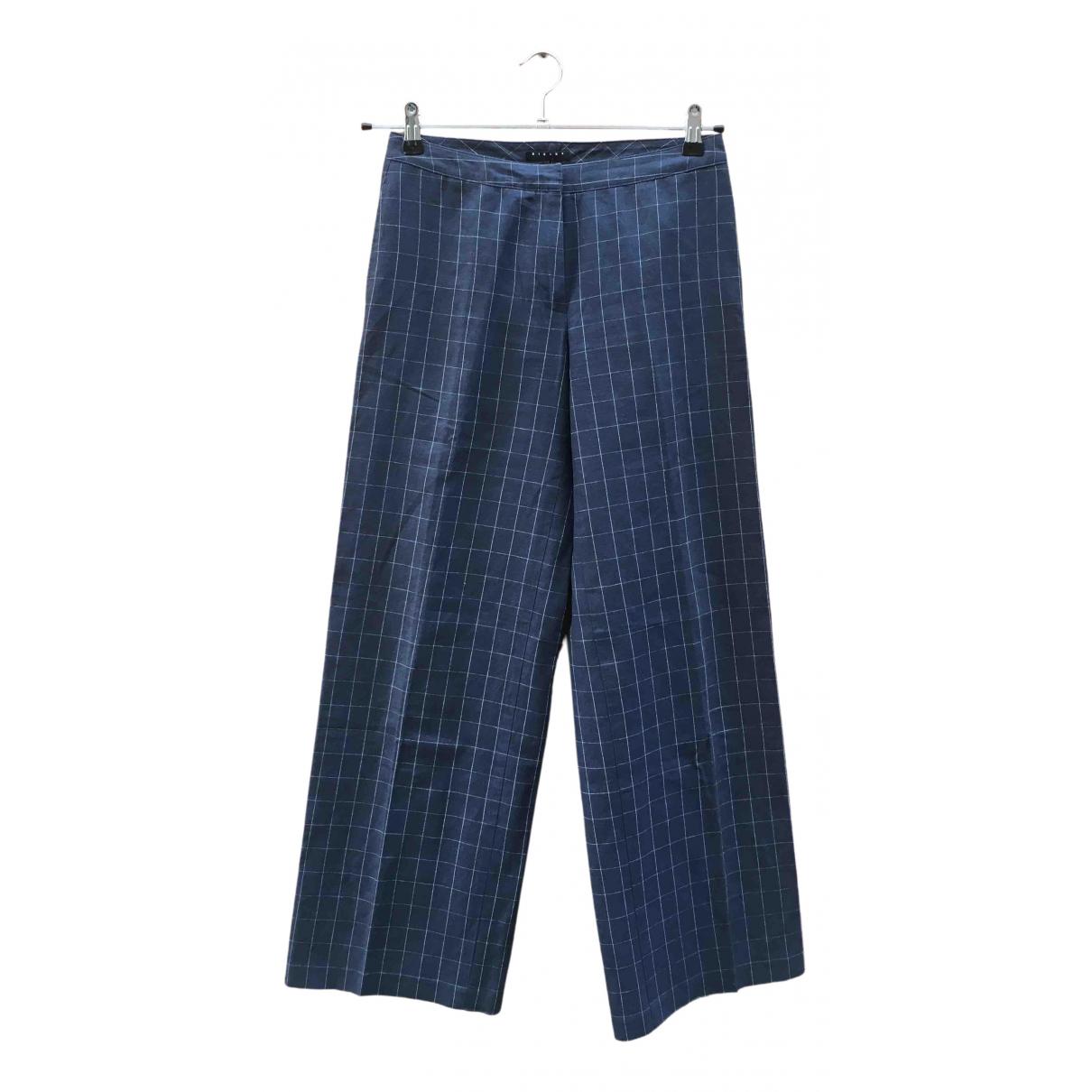 Pantalon Hippie Chic en Algodon Azul Non Signe / Unsigned