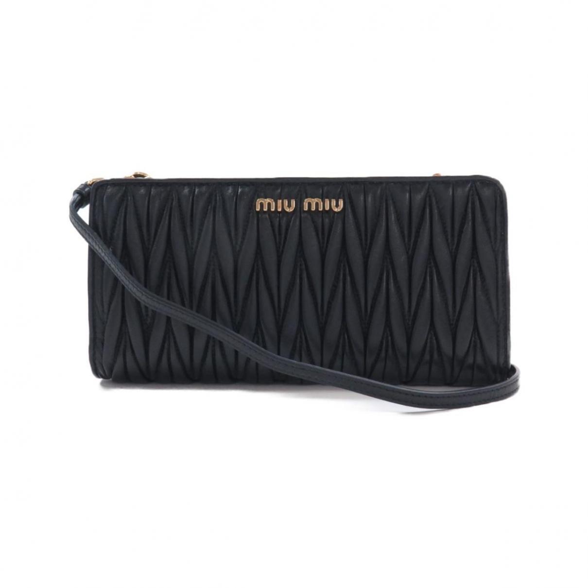 Miu Miu \N Black Leather Clutch bag for Women \N