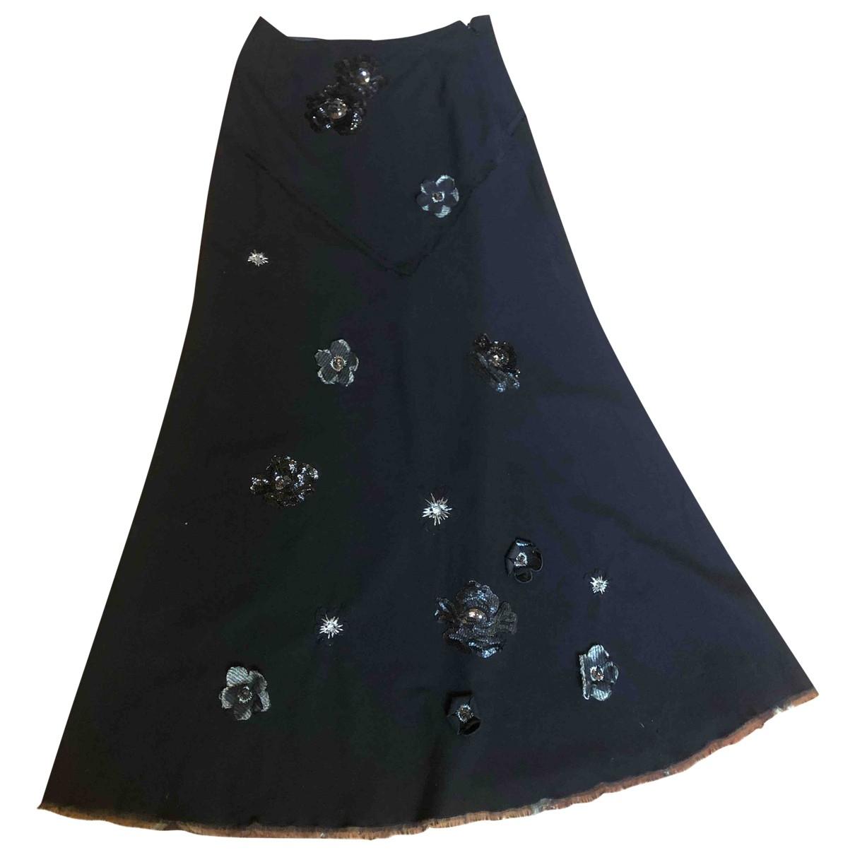 Ermanno Scervino \N Black Wool skirt for Women 42 IT