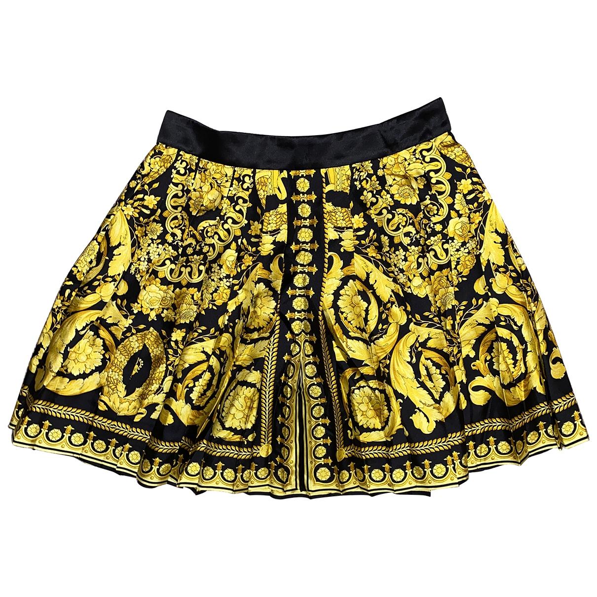 Versace \N Rocke in  Gelb Seide