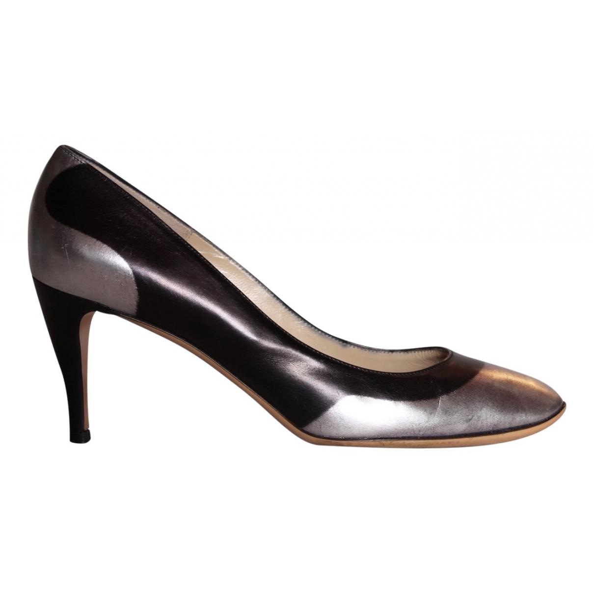 Emporio Armani \N Black Leather Heels for Women 38 EU
