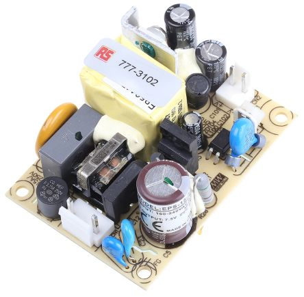 Mean Well , 15W Embedded Switch Mode Power Supply SMPS, 7.5V dc, Open Frame