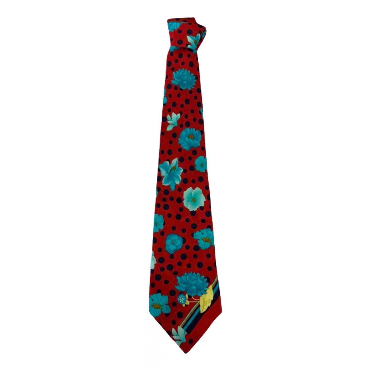 Leonard \N Krawatten in  Rot Seide