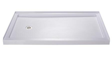 DL-6145L-01 30 In. D X 60 In. W X 75 5/8 In. H Left Drain Acrylic Shower Base And Qwall-3 Backwall Kit In