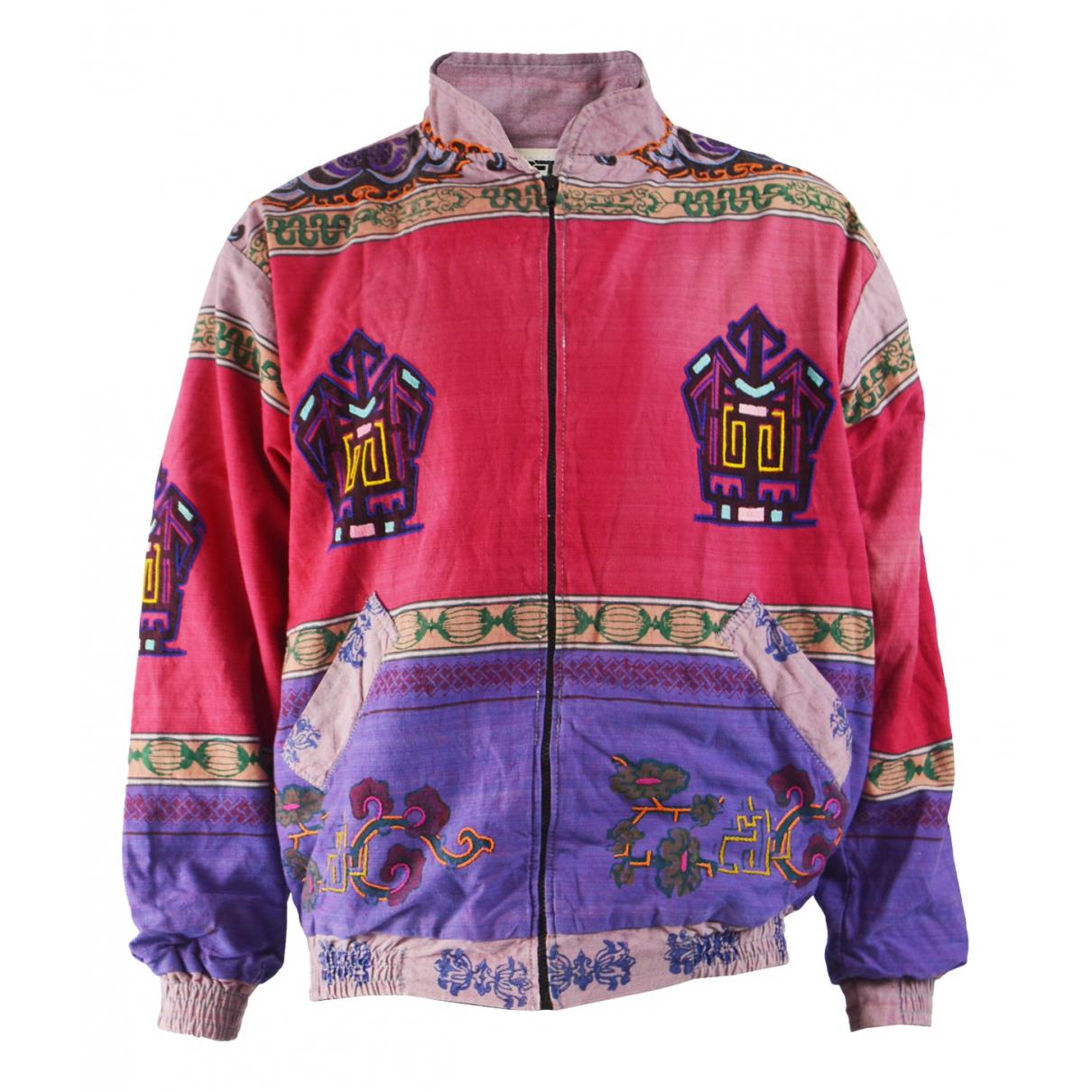 Non Signé / Unsigned N Multicolour Cotton jacket  for Men XL International