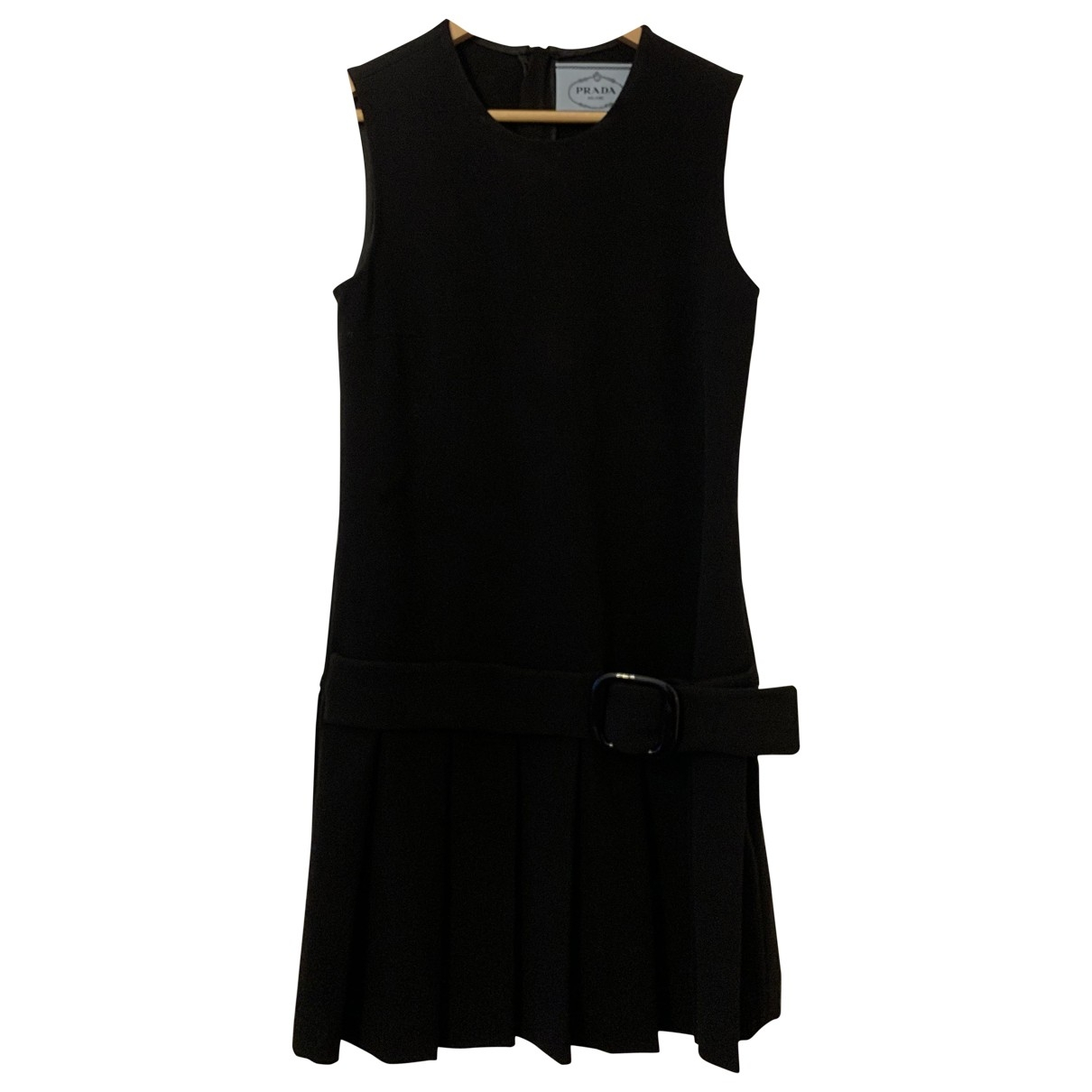 Prada \N Kleid in  Schwarz Synthetik