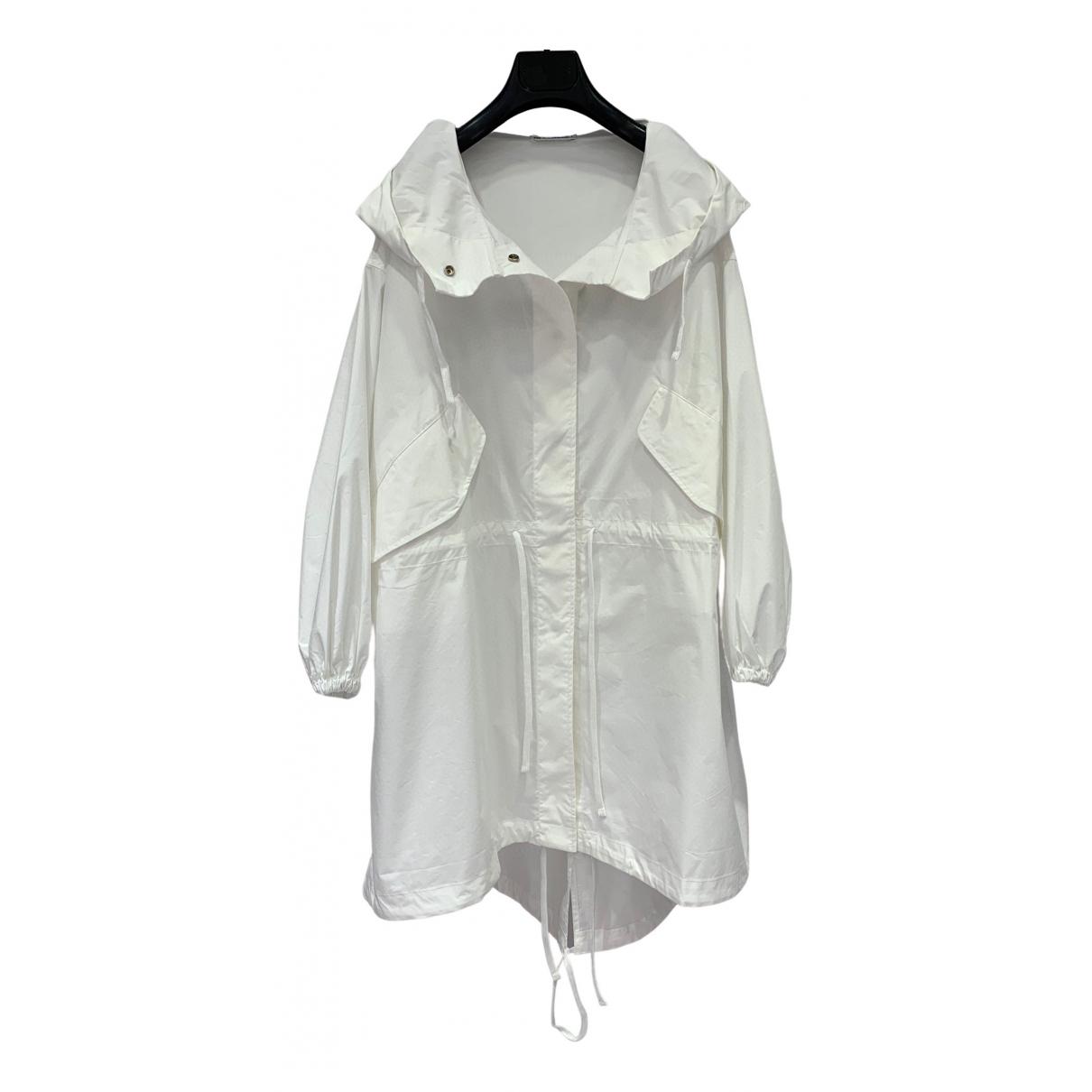 Jil Sander - Trench   pour femme en coton - blanc