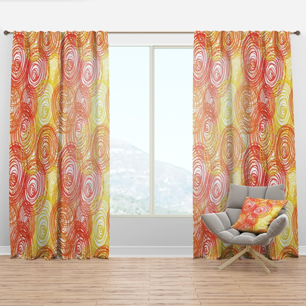 Designart 'Round Shapes' Modern & Contemporary Curtain Panel (50 in. wide x 108 in. high - 1 Panel)