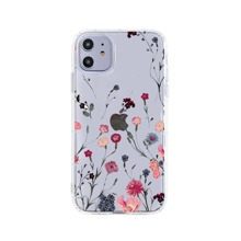 1pc Flower Print Clear iPhone Case
