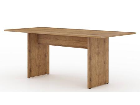 NoMad Collection 122GMC77 Dining Table with Rustic Country Style  Medium-Density Fiberboard (MDF) Frame and Medium-Density Fiberboard (MDF) Feet in