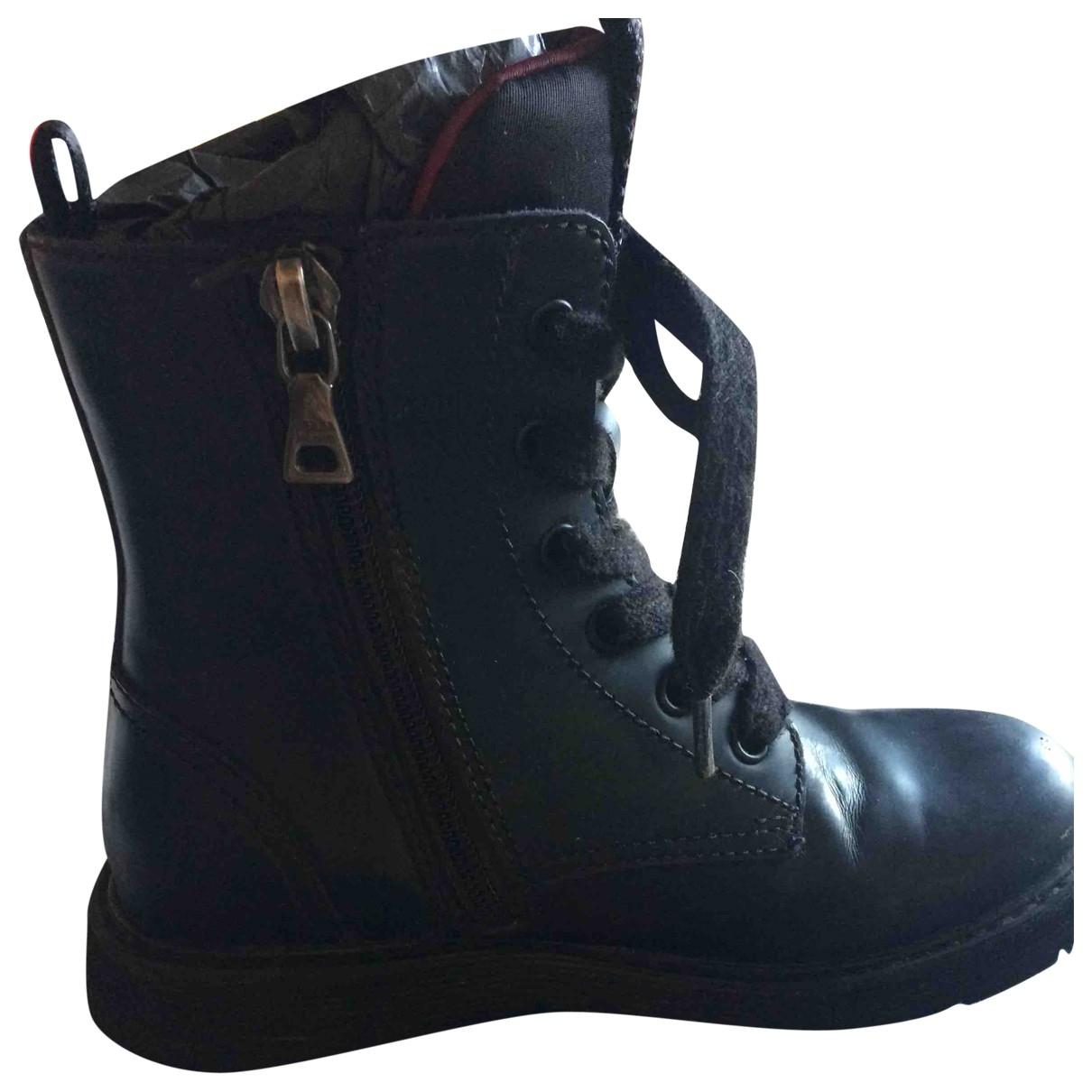 Prada \N Black Leather Boots for Kids 29 EU