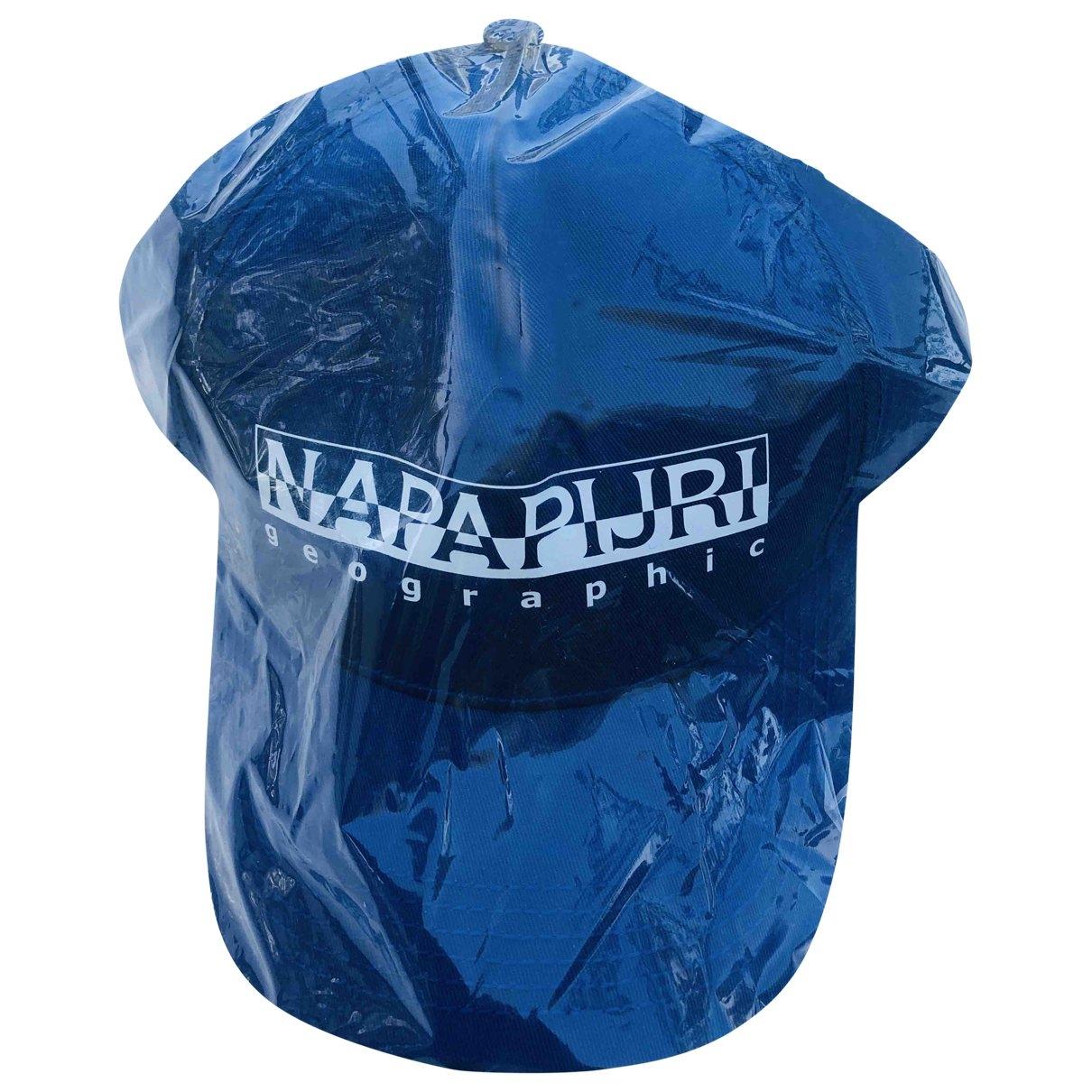 Napapijri - Chapeau & Bonnets   pour homme en coton - bleu
