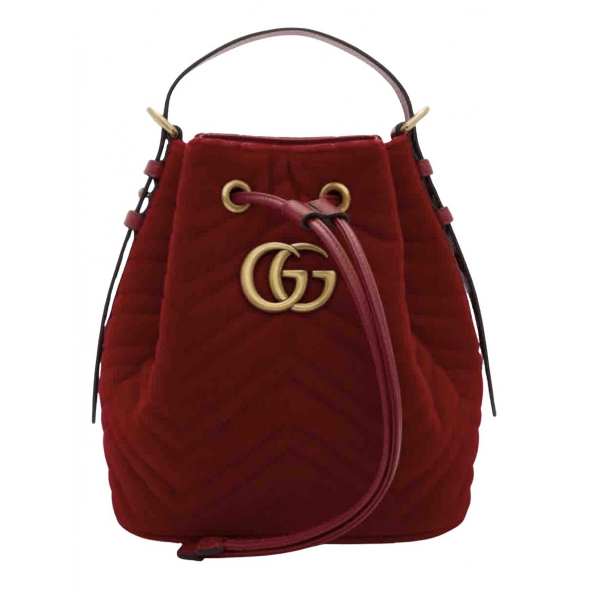 Gucci - Sac a main Marmont pour femme en velours - rouge