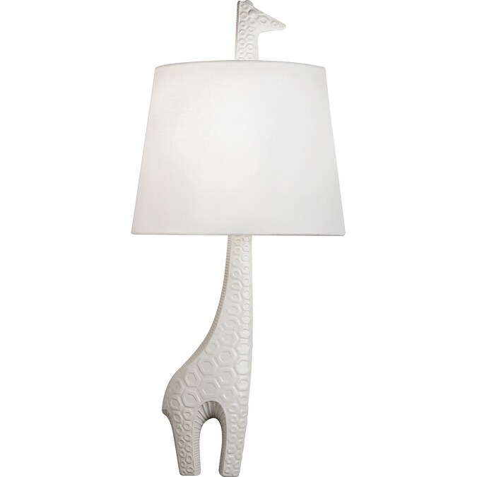 Robert Abbey 730R One Light Wall Sconce Jonathan Adler Ceramic Sconce Ceramic w/ White Glaze - One Size (One Size - Clear)