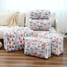 1pc Geometric Pattern Quilt Storage Bag