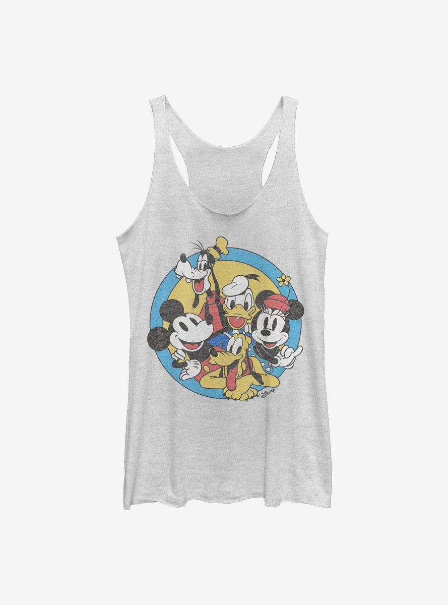 Disney Mickey Mouse Fab Five Friends Womens Tank Top