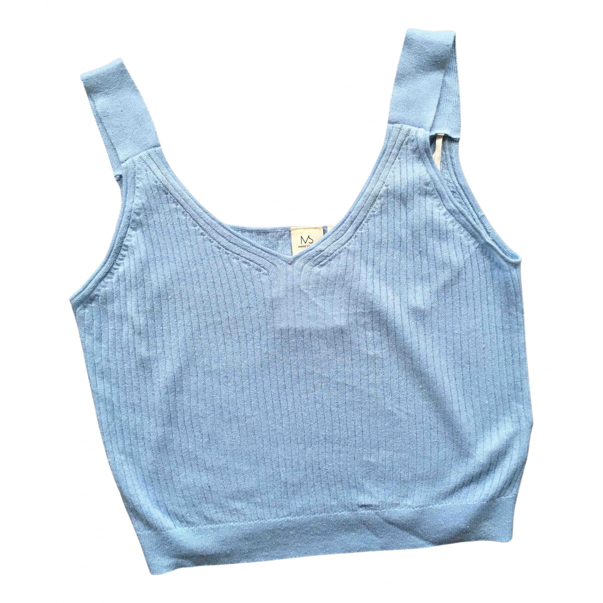 Marie Sixtine - Top   pour femme en coton - bleu