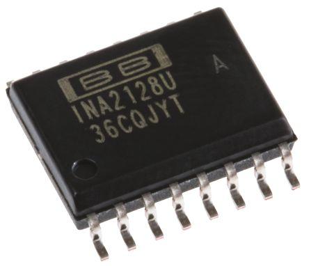 Texas Instruments INA2128UA , Instrumentation Amplifier, 125μV Offset 1.3MHz, 16-Pin SOIC