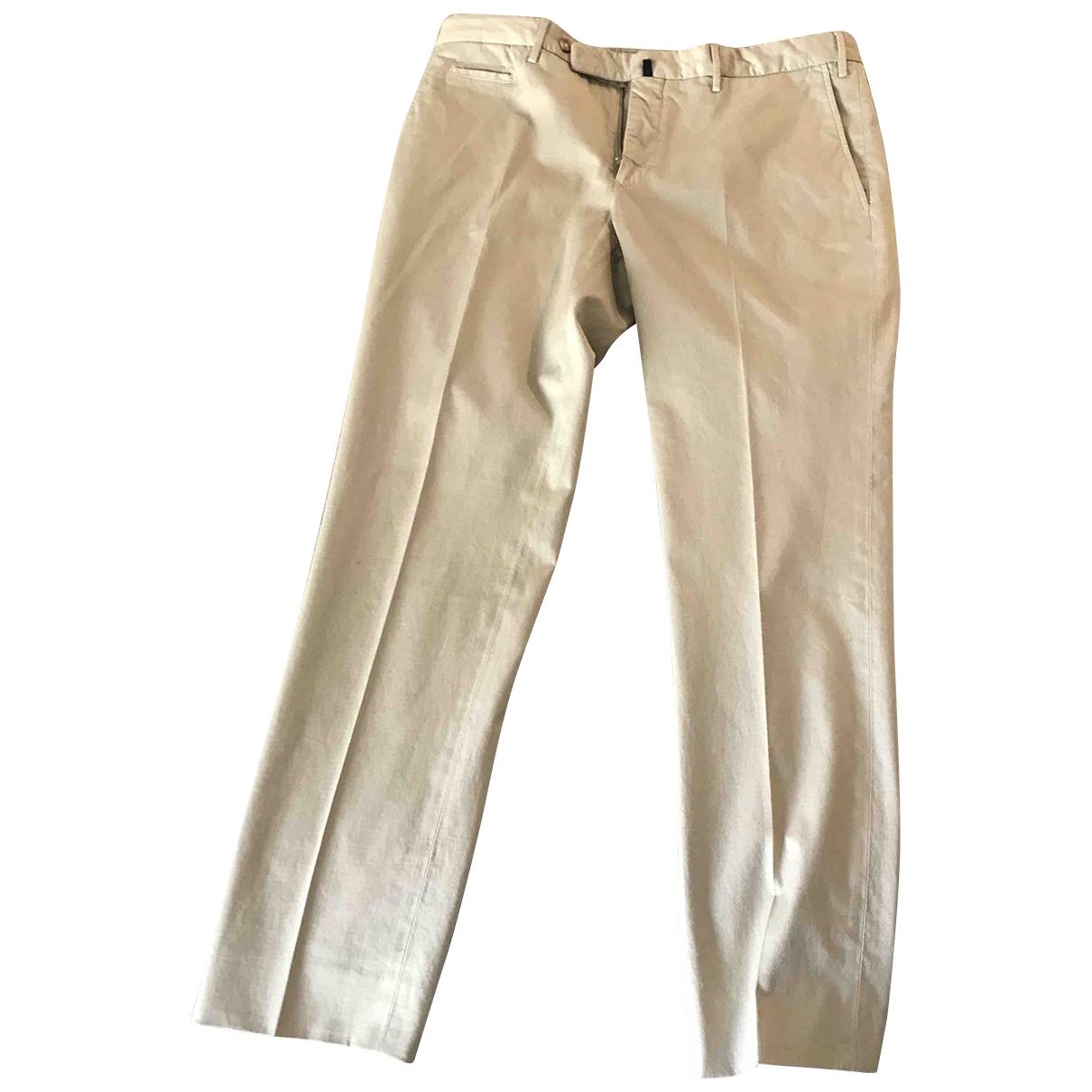 Incotex \N Beige Cotton Trousers for Men 50 IT