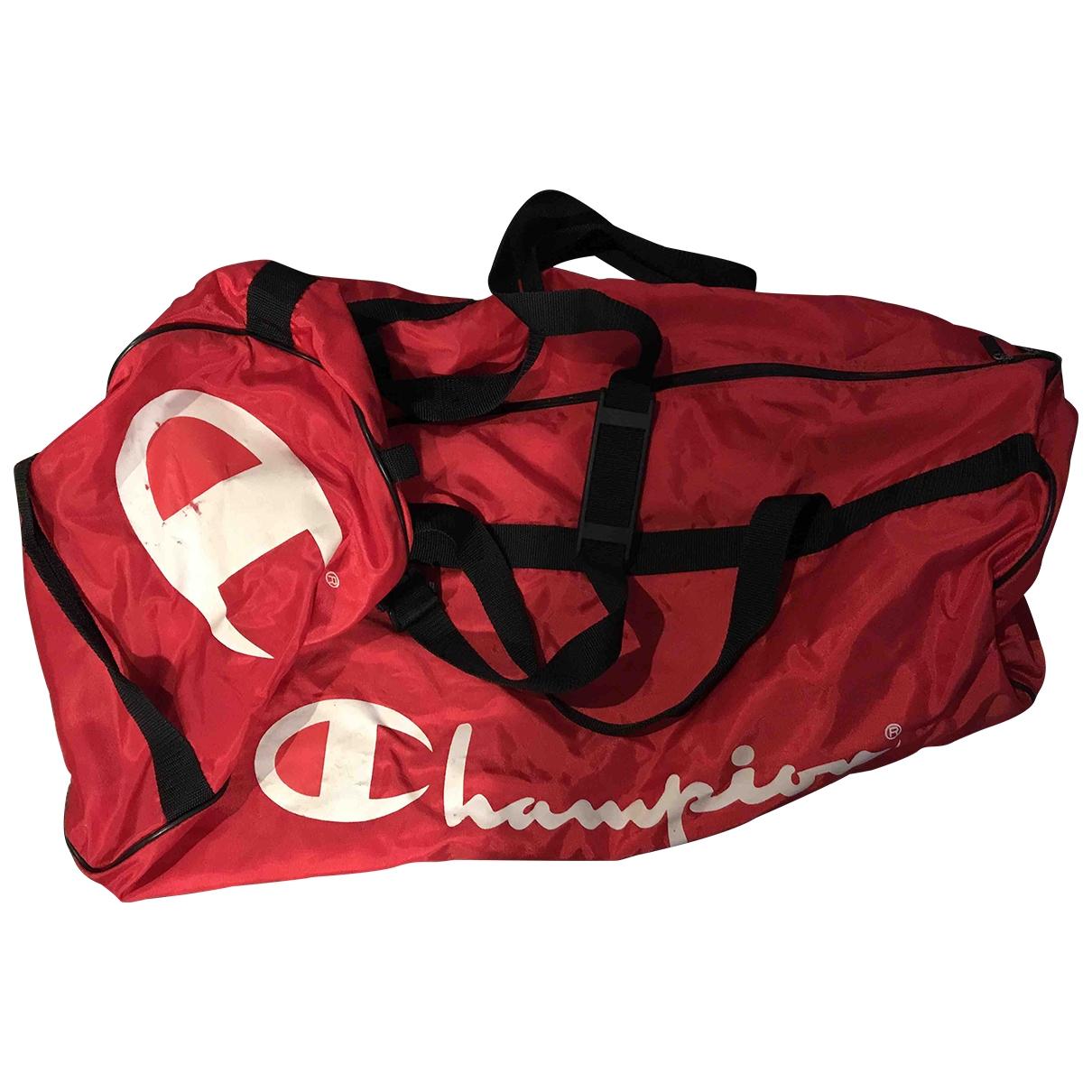 Champion - Sac de voyage   pour femme en toile - rouge